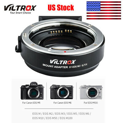 Viltrox EF-EOS M2 Auto Lens Mount Adapter Ring for Canon EF to EOS EF-M/M2/M3/M5