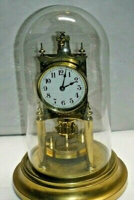 Antique Gustav Becker 400-Day Disc Pendulum Anniversary Clock Working Germany