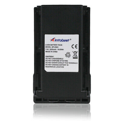 BP-232H BP-231 BP-230 2000mAh Li Ion Battery for ICOM  IC-F14 IC-F3062 IC-F3011