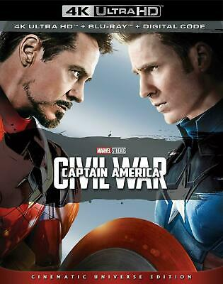 MARVEL Captain America: Civil War(4K Ultra HD+ Blu-ray+Digital+SlipCover, 2019)
