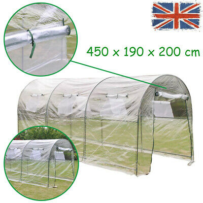 Portable Outdoor Greenhouse Large Walk-in Polly Tunnel Patio Garden Plant House