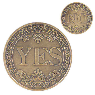 Commemorative Coin YES NO Letter Ornaments Collection Arts Gifts Souvenir LuckB$