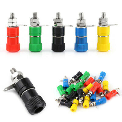 20Pcs 5 Color Binding Post Female Socket Jack For 4mm Banana Plug Connector AU