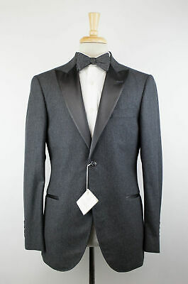 e336dbb39fab5e NWT BRUNELLO CUCINELLI Gray Wool Satin Peak Lapels Tuxedo Suit 50/40 R $4995