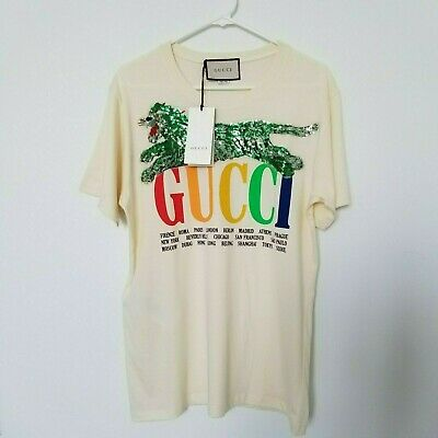 109f394818d GUCCI AUTHENTIC TIGER T-shirt Small size -  650.00