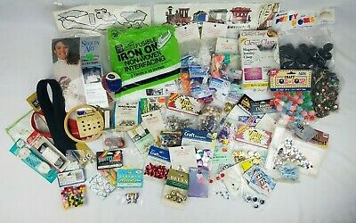 Mixed Craft Jewelry Lot ~ Mostly Unopened ~ Beads Zippers Sequins & Much More