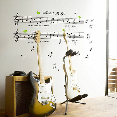 Melody Music Notes Wall Sticker Art Wall Vinyl Mural Decals Home Room Decorative