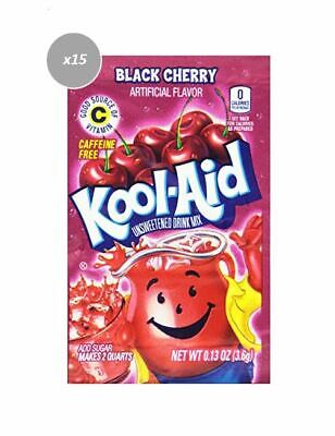 903266 15 x 3.6g PACKETS KOOL AID UNSWEETENED DRINK MIX BLACK CHERRY FLAVOUR