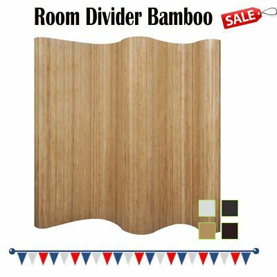 Room Divider Panel Screen Partition Bamboo 250x195 cm Home Privacy Indoor Chic