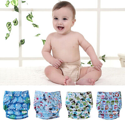 Baby Infant Cloth Diaper Adjustable One Size Reusable Nappy Covers Liner Inserts