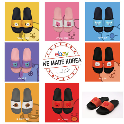 BTS BT21 Character Face Slipper 220~250mm US 5~8size Official K-Pop Authentic MD