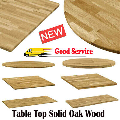 Natural Solid Oak Wood Table Top Replacement Top Dining Tables Area home Decor