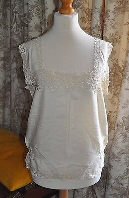 Authentic Antique/Vintage Art Deco 1920's Silk & Lace Camisole/Vest