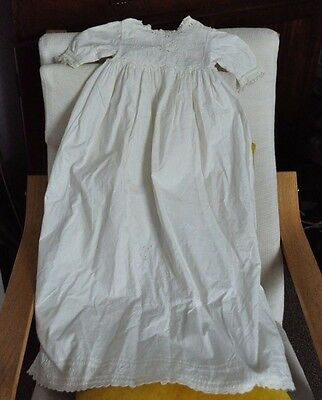 Antique Handmade Baby Gown/Dress-Richelieu/RetiCella Lace/Hand Embroidery