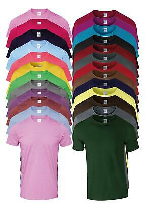 Mens Ladies Unisex Adult Gildan Softstyle Ringspun Plain T-shirt S-5XL