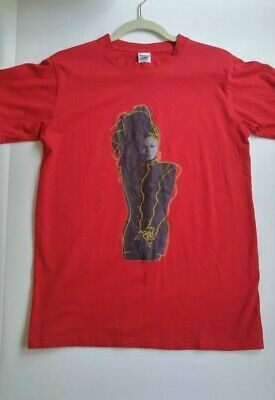 b5a470be2 Janet Jackson T Shirt- Control 1986 Album Cover Short Sleeve Red Size Small