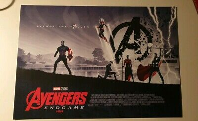 Marvel Avengers Endgame Genuine ODEON Exclusive Poster Thor Captain launch A3