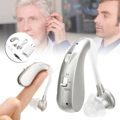 Rechargeable Digital Hearing Aid Severe Loss BTE Ear Aids High-power Gift AU