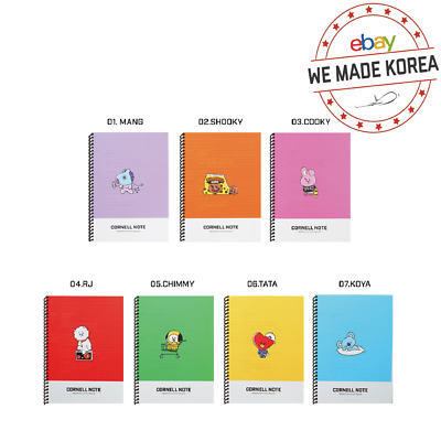 BTS BT21 Character Cornell Notebook Notepad Diary Official K-Pop Authentic Goods