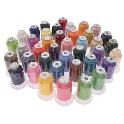 40 Brother Colors Polyester Embroidery Thread 120D/2 500M for Machine