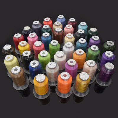 1 Set Simthread 40 Brother Color 500M Polyester Embroidery Thread 120D/2 Machine