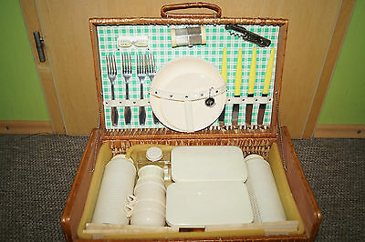 AHA original vintage car Picknick Set Basket 50/60th VW OPEL BMW 2 Personen