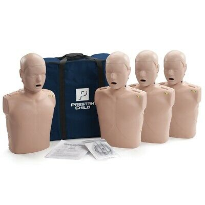 x4 Prestan Professional Training Manikin Child with CPR Monitor inc 50 Lung Bags
