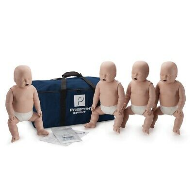 x4 Prestan Professional Training Manikin Infant with CPR Monitor inc 50 Lung Bag
