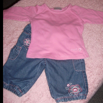 Baby Girls Jeans & Top Outfit Age 3-6 Months