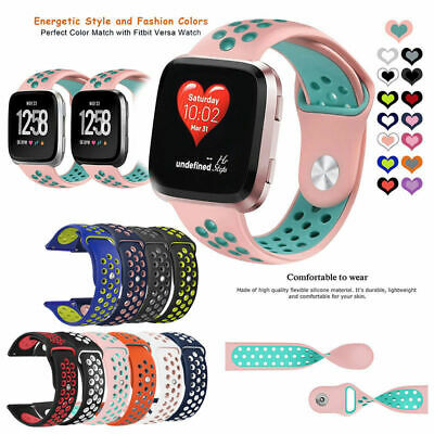 Replacement Band For Fitbit Versa Sport Breathable Silicon Wristband Watch Strap