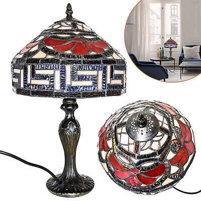 TIFFANY Flower Style Antique Reading Table Home Decor Base Lamp with Zinc Base