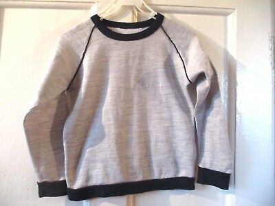 Boys  Vintage grey  Sweatshirt - Size age approx  9-11 chest 30 inches