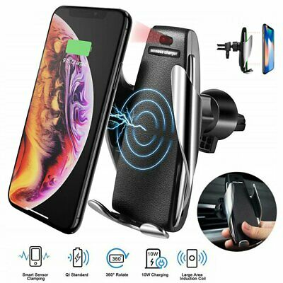 Automatic Qi Wireless Car Charger Phone Holder For iPhone X XS Max Xr 8 Plus