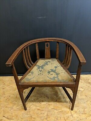 Antique Edwardian Mahogany Inlaid Tub Chair - 00013