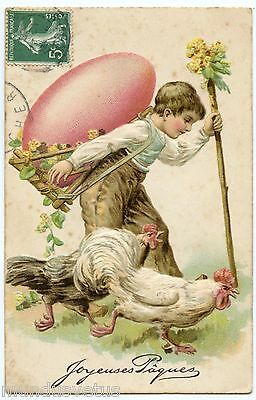 Pâques. Coqs. Oeuf. Enfant. Roosters. Child. Egg. Relieve