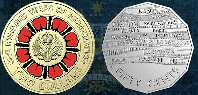 2019 $2 One Hundred Years of Repatriation & 50c Year of Indigenous Languages UNC