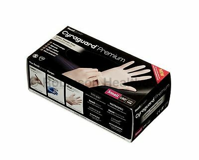 Cyraguard Premium Latex Gloves, Small, Case of 10 Packs (100 Gloves Per Pack)