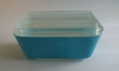 Vintage Pyrex Blue Refrigerator Dish With Lid 502-B