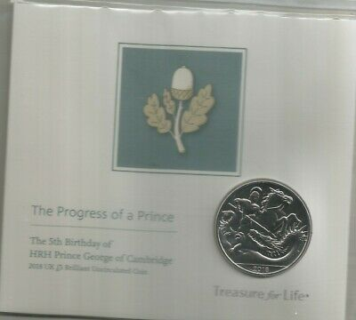 2019 Prince George 5Th Birthday Brilliant Uncirculated Five Pound Coin