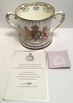 Rare 100 Year Queen Elizabeth Queen Mother Royal Collection Loving Cup 310/1000