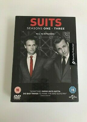 Brand New Sealed Suits Complete Seasons 1-3 DVD. 44 Episodes, 12 Discs (2013)f