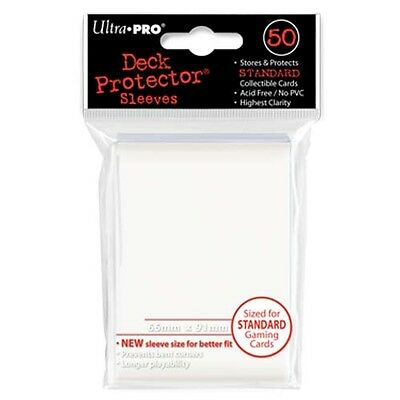 50 Ultra Pro Trading Card Sleeves - Standard White Deck Protectors.