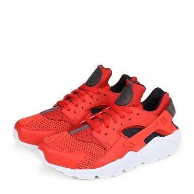 separation shoes 35337 efe69 Nike Air Huarache Mens 318429-609 Habanero Red Black Running Shoes Size 9.5