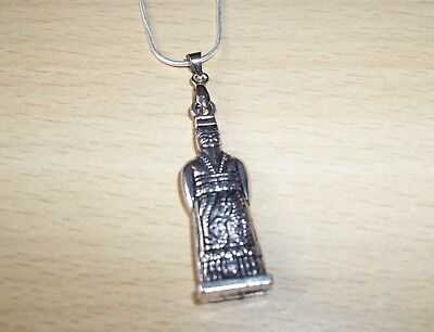 TIBET SILVER CONFUCIUS CHINESE PHILOSOPHER PENDANT & 20inch CHAIN