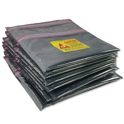 """Lot of 10 8"""" x 8"""" Z-MAR Static Shield Bags Transparent, Cushioned, Electrostatic"""