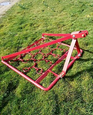 compact tractor 3ft grass harrows chain harves