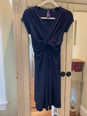 8a44d144059c1 SERAPHINE NAVY BLUE Front Knot Maternity Dress - Size 4 (US ...