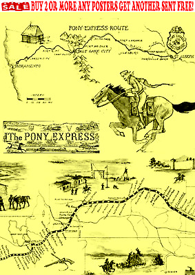 Old West Wanted Posters Mail Horse Pony Express Western Reward