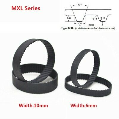 22-120MXL Pitch 2.032mm Rubber Close Loop Timing Synchronous Belt Width 6/10mm