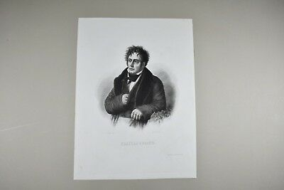 Gravure ancienne XIXe - Chateaubriand